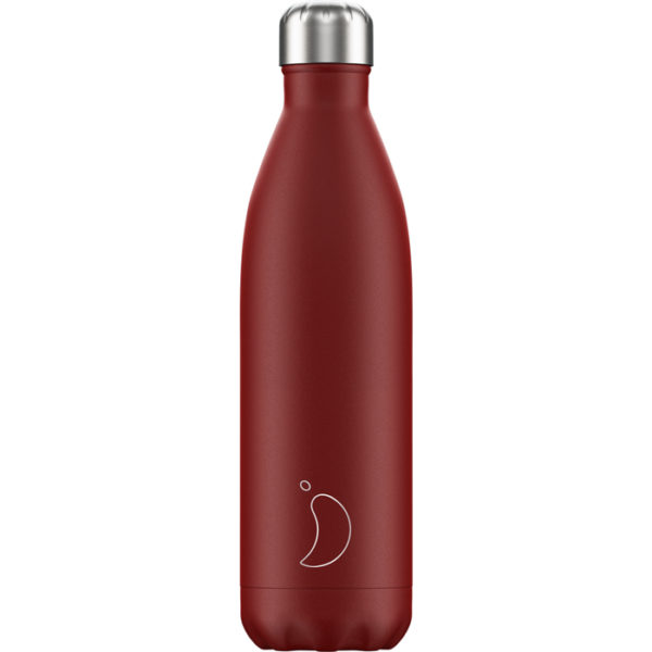 Chilly's bottle 750ml matte red