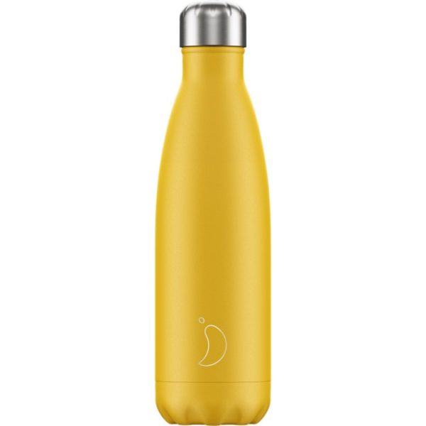 Chilly's bottle 500ml giallo opaco